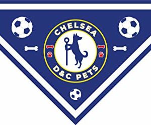 d&c pet couture small chelsea fc premier league football club dog bandana for small dogs D&C Pet Couture Chelsea Football Club Dog Bandana for Small Dogs DC Pet Couture Premiership FC Premier League Football Club Dog Bandana for Small Medium and Large Dogs 0 300x250