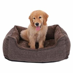 feandrea washable plush dog bed with removable cover, dog sofa FEANDREA Dog Bed, Removable Cover, Dog Sofa, 70 x 55 x 21 cm, Brown PGW10CC FEANDREA Washable Plush Dog Bed with Removable Cover Dog Sofa 0 300x300