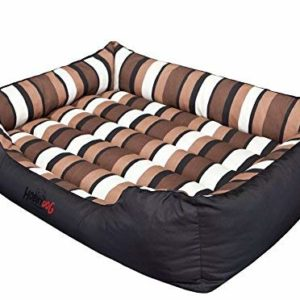 hobbydog cordura comfort dog bed, Hobbydog Cordura Comfort Dog Bed, 3X-Large, Black with Stripe HOBBYDOG Cordura Comfort Dog Bed 0 300x300