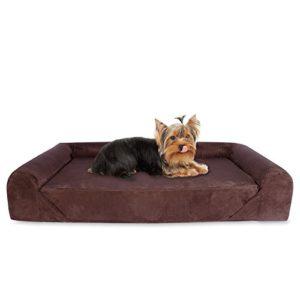 kopeks orthopaedic memory foam dog sofas for all dog sizes - brown and grey KOPEKS Deluxe Orthopedic Memory Foam Sofa Lounge Dog Bed, Small, Brown KOPEKS Orthopaedic Memory Foam Dog Sofas for all Dog Sizes Brown and Grey 0 300x300