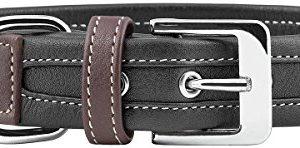 knuffelwuff midpines leather dog collar, Knuffelwuff Midpines Leather Dog Collar, 35-42 cm, Black Knuffelwuff Midpines Leather Dog Collar 0 300x148