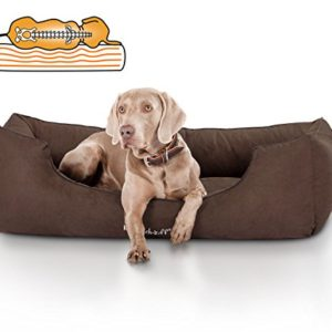 knuffelwuff orthopaedic dog bed made of suede amelie Knuffelwuff Suede Amelie Orthopaedic Dog Bed, X-Large, 105 x 75 cm, Grey Knuffelwuff Orthopaedic Dog Bed Made of Suede Amelie 0 300x300
