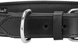 knuffelwuff real leather basic plus dog collar Knuffelwuff Real Leather Basic Plus Dog Collar, 46 – 56 cm, Black Knuffelwuff Real Leather Basic Plus Dog Collar 0 300x170