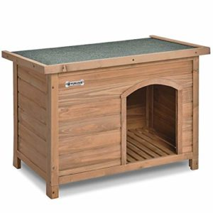 p purlove wooden dog kennel for outdoor garden, indoor P PURLOVE Waterproof Wood Dog House Kennel, Size 84cm Width x 51cm Depth x 61cm Height. PURLOVE Extra Large Dog Kennel Solid Wooden OutdoorIndoor DogPet House Garden Crate with Removable Floor and Openable Slanted Roof For Easy Cleaning Weatherproof Asphalt 0 300x300