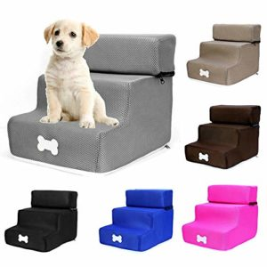 yummyfood detachable pet stair steps, dog stair 3 floors pet bed ladder easy climb washable ladder for dog cat, 30x35x30cm yummyfood Detachable Pet Stair Steps, Dog Stair 3 Floors Pet Bed Ladder Easy Climb Washable Ladder For Dog Cat… Pet StepsStairs for Dogs Cats Detachable 3 Step Stool for Pet Portable Removable Washable Ladder Stair for Small Dog and Cat 0 300x300