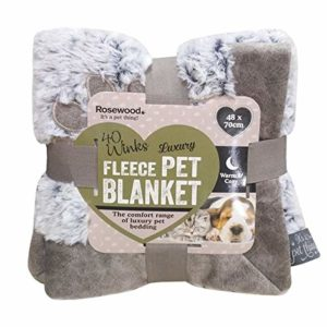 rosewood warm fleece lined plush sofa Medium dog blanket, for dogs, puppies, cats and kittens, machine washable, Super soft throw blanket, grey, 68 x 46 cm… ROSEWOOD WARM FLEECE LINED PLUSH SOFA 0 300x300