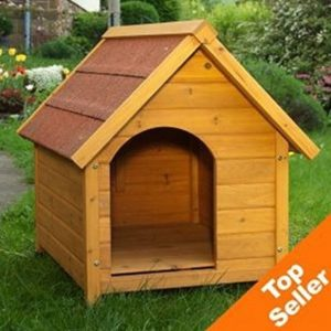 wooden dog kennel - sturdy & attractive outdoor dog kennel made from light, finished wood with a wide overhang offering protection from adverse weather conditions (small) Wooden Dog Kennel – Sturdy & Attractive Outdoor Dog Kennel Made From Light, Finished Wood With a Wide Overhang Offering… Wooden Dog Kennel Sturdy Attractive Outdoor Dog Kennel Made From Light Finished Wood With a Wide Overhang Offering Protection From Adverse Weather Conditions Medium 0 300x300