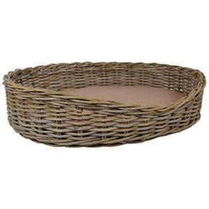 wovenhill wicker pet beds Wovenhill Home Storage Kubu Wicker Rectangle Pet Bed W75 x D56 x H22cm Wovenhill Wicker Pet Beds 0 300x300