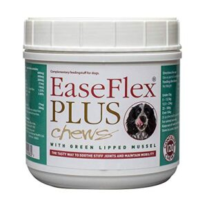 easeflex plus tasty soft chews for stiff and older dogs. glucosamine, chondroitin and green lipped mussel - tub of 120 chews EaseFlex PLUS tasty soft chews for stiff and older dogs. Glucosamine, chondroitin and green lipped mussel – tub of 120… EaseFlex PLUS tasty soft chews for stiff and older dogs Glucosamine chondroitin and green lipped mussel tub of 120 chews 0 300x300