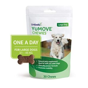lintbells yumove one-a-daychewies Lintbells | YuMOVE ONE-A-DAY Large Chewies for Dogs | Essential Hip and Joint Supplement for Stiff Dogs | 30 Chews – 1… Lintbells Yumove ONE A DAYChewies 0 300x300