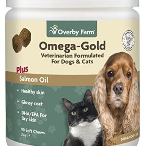overby farm omega gold salmon oil soft chew Overby Farm Omega Gold Salmon Oil Soft Chew for Cats and Dogs, 90-Piece, 256 g Overby Farm Omega Gold Salmon Oil Soft Chew 0 300x300