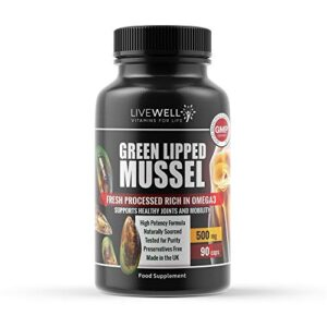 live well vitamins for life - green lipped mussel extract 500mg - 90 capsules | high grade new zealand sourced | made in the uk | supports health joints & movement live well vitamins for life – Green Lipped Mussel Extract 500mg – 90 Capsules | High Grade New Zealand Sourced | Made in… live well vitamins for life Green Lipped Mussel Extract 500mg 90 Capsules High Grade New Zealand Sourced Made in the UK Supports Health Joints Movement 0 300x300