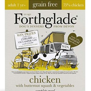 forthglade natural grain free complete wet dog food chicken with butternut squash & veg 395 g (pack of 18) Complete Meal Complete Meal 0 300x300