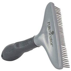 furminator rake comb for long-haired dogs and cats - brush for prevention of knots and tangled hair FURminator Grooming Rake for Cats and Dogs FURminator Rake Comb for Long Haired Dogs and Cats Brush for Prevention of Knots and Tangled Hair 0 300x300