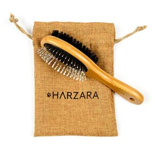 harzara eco-friendly pet brush for dogs & cats. professional, double sided pin & bristle for short, medium or long hair. bamboo grooming comb cleans pet shedding & dirt plus smoothes coat. Harzara Eco-Friendly Pet Brush for Dogs & Cats. Professional, Double Sided Pin & Bristle for Short, Medium or Long Hair… Harzara Eco Friendly Pet Brush for Dogs Cats Professional Double Sided Pin Bristle for Short Medium or Long Hair Bamboo Grooming Comb Cleans Pet Shedding Dirt Plus Smoothes Coat 0 300x300