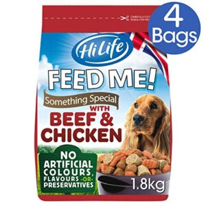 hilife feed me! HiLife FEED ME! Something Special – Complete Dry Dog Food – Beef Chicken with Succulent Sliced Sausage – Soft, Moist… HiLife Feed Me 0 300x300