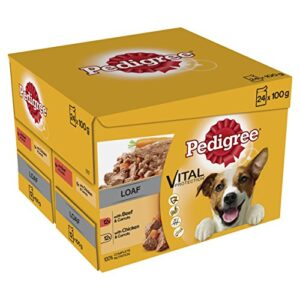 pedigree vital protection - wet dog food pouches Pedigree Dog Pouches – Mixed Selection in Loaf 100 g (Pack of 2 x 24) Pedigree Vital Protection Wet Dog Food Pouches 0 300x300
