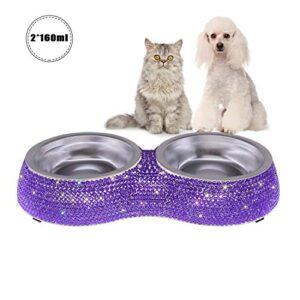 savori pet bowls, handmade sparkling rhinestones stainless steel dog bowls double pet food water feeder for puppy dogs cats SAVORI Dog Cat Bowls, 320ml/4.5 Ounce Handmade Sparkling Rhinestones Stainless Steel Pet Bowls Double Pet Food Water… SAVORI Pet Bowls Handmade Sparkling Rhinestones Stainless Steel Dog Bowls Double Pet Food Water Feeder for Puppy Dogs Cats 0 300x300
