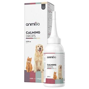 animigo calming drops for dogs & cats - natural calming solution for nervous pets - thunder, separation anxiety, fireworks, stress rescue supplement - with vitamins & minerals - 100ml calmer drops Animigo Calming Drops For Dogs & Cats – Natural Calming Solution For Nervous Pets – Thunder, Separation Anxiety… Animigo Calming Drops For Dogs Cats Natural Calming Solution For Nervous Pets Thunder Separation Anxiety Fireworks Stress Rescue Supplement With Vitamins Minerals 100ml Calmer Drops 0 300x300