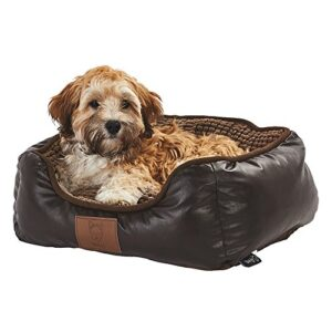 bunty tuscan faux leather soft fur fleece large dog bed pet cat basket - small Bunty Tuscan Luxury Faux Leather Soft Fur Fleece Large Dog Bed Pet Cat Basket – Small Bunty Tuscan Faux Leather Soft Fur Fleece Large Dog Bed Pet Cat Basket 0 300x300