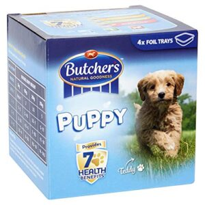 butcher's puppy Butcher's Puppy Chunks in Jelly Dog Food Tins, 9.6kg (24 x 400g) Butchers Puppy 0 300x300