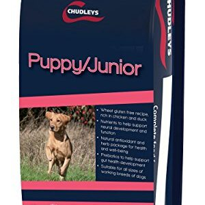 chudleys puppy/junior dog food, 12 kg Chudleys Puppy Junior Hypoallergenic Dry Puppy Food – Rich in Chicken and Duck, 12 kg Chudleys PuppyJunior Dog Food 12 kg 0 300x300