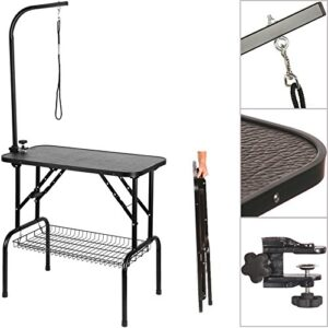 dog cat grooming table adjustable portable foldable non slip feet arm noose - plus Dog Cat Grooming Table Adjustable Portable Foldable Non Slip Feet Arm Noose – Plus Dog Cat Grooming Table Adjustable Portable Foldable Non Slip Feet Arm Noose Plus 0 300x300