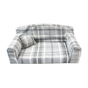 dove gray royal - pet sofa. 3 sizes dog bed cover material. made in uk Dove Grey Royal – Pet Sofa. 3 sizes Dog bed cover material. Made in UK (Small 82 x 46 x 34 cm) Dove Gray Royal Pet Sofa 3 sizes Dog bed cover material Made in UK 0 300x300