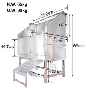"gravitis pet supplies professional stainless steel dog bath – 46"" walk-in tub for professional pet groomers, includes shower attachment, access ramp and accessories Gravitis Pet Supplies Professional Stainless Steel Dog Bath – 46"" Walk-In Tub for Professional Pet Groomers, includes… Gravitis Pet Supplies Professional Stainless Steel Dog Bath  46 Walk In Tub for Professional Pet Groomers includes Shower Attachment Access Ramp and Accessories 0 300x300"