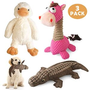 konky squeaky dog toys set, 3 packs durable dog plush toy chew toys - various animals shapes training toy for puppy small medium large dogs (duck, horse and crocodile) KONKY Squeaky Dog Toys Set, 3 Packs Durable Dog Plush Toy Chew Toys Dog Companion, Various Animals Shapes Training Toy… KONKY Squeaky Dog Toys Set 3 Packs Durable Dog Plush Toy Chew Toys Various Animals Shapes Training Toy for Puppy Small Medium Large Dogs Duck Horse and Crocodile 0 300x300
