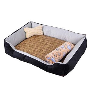 kraeoke 4-in-1 dog bed 4 in 1 with bamboo sleeping mat wool blanket and bone shaped cushion washable xs Kraeoke 4-in-1 Dog Bed 4 in 1 with Bamboo Sleeping Mat Wool Blanket and Bone Shaped Cushion Washable XS Kraeoke 4 in 1 Dog Bed 4 in 1 with Bamboo Sleeping Mat Wool Blanket and Bone Shaped Cushion Washable XS 0 300x300