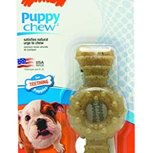nylabone puppy Nylabone Gentle Puppy Dog Petite Ring Bone Teething Chew Toy, Chicken Flavour, Extra Small, for Puppies Up to 7 kg Nylabone Puppy 0 300x300