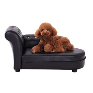 pawhut dog bed pets sofa luxury pets couch wooden sponge pvc (black) PawHut Dog Bed Pets Sofa Luxury Pets Couch Wooden Sponge PVC (Black) PawHut Dog Bed Pets Sofa Luxury Pets Couch Wooden Sponge PVC Black 0 300x300