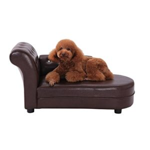 pawhut dog bed pets sofa luxury pets couch wooden sponge pvc (brown) PawHut Dog Bed Pets Sofa Luxury Pets Couch Wooden Sponge PVC (Brown) PawHut Dog Bed Pets Sofa Luxury Pets Couch Wooden Sponge PVC Brown 0 300x300