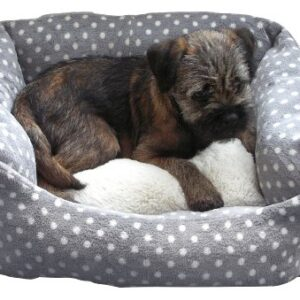 rosewood 40 winks small dog/ cat sleeper bed, 16-inch, grey/ cream spot One size dog bed for indoor cats, kittens, puppies and small dogs, machine washable, super soft and cosy plush bed, grey… Rosewood 40 Winks Small Dog Cat Sleeper Bed 16 inch Grey Cream Spot 0 300x300