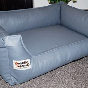 similpelle dog bed / sofa artificial leather 105 cm x 80 cm grey Hundebettenmanufaktur Similpelle Dog Bed/Sofa Artificial Leather 105 cm x 80 cm grey Similpelle Dog Bed Sofa Artificial Leather 105 cm x 80 cm grey 0 300x300