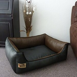 similpelle dog bed / sofa artificial leather 110 x 85 cm black / brown Similpelle Dog Bed / Sofa Artificial Leather 110 x 85 cm Black / Brown Similpelle Dog Bed Sofa Artificial Leather 110 x 85 cm Black Brown 0 300x300