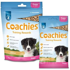 coachies training treats, 75g puppy - chicken COACHIES Training Treats, 75g Puppy – Chicken The Company of Animals COACHIES Training Treats 200g Single Pack 0 1 300x300