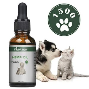 vitablossom hemp pure oil for dogs, cats and pets, 100% natural omega oils 30ml (1500mg) Vitablossom Hemp Pure Oil for Dogs, Cats and Pets, 100% Natural Omega Oils 30ML (5000MG) Vitablossom Hemp Pure Oil for Dogs Cats and Pets 100 Natural Omega Oils 30ML 0 300x300