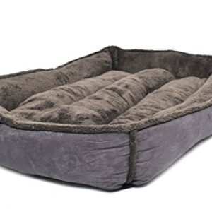 """wolfybeds large padded fleece dog bed in slate grey (36"""" x 24"""") washable covers Wolfybeds Large Padded Luxury Fleece Dog Bed in Slate Grey (36″ x 24″) washable covers Wolfybeds Large Padded Fleece Dog Bed in Slate Grey 36 x 24 washable covers 0 300x300"""