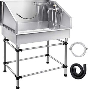 """zgyqgoo 50"""" professional dog grooming tub stainless steel pet bathing tub large dog wash tub with faucet and walk-in ramp & accessories dog washing station pet bath tub (50"""" right door) ZGYQGOO 38″ Professional Pet Dog Grooming Tub Stainless Steel Pet Bathing Small Medium Pet Grooming Tub with Faucet and Accessories Dog Washing Station Pet Bath Tub(38″ For Small-Medium Pets) ZGYQGOO 50 Professional Dog Grooming Tub Stainless Steel Pet Bathing Tub Large Dog Wash Tub with Faucet and Walk in Ramp Accessories Dog Washing Station Pet Bath Tub 50 Right Door 0 300x300"""